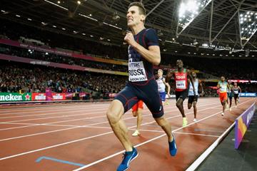 Pierre-Ambroise Bosse on his way to winning the 800m at the IAAF World Championships London 2017 (Getty Images)