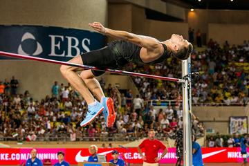 Danil Lysenko in the high jump at the IAAF Diamond League meeting in Monaco (Philippe Fitte)