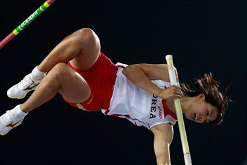 Choi Yun-Hee at the Colorful Daegu Pre-Championships Meeting 2010 (Getty Images)