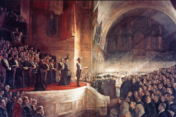 Opening of the first Australian Parliament ()