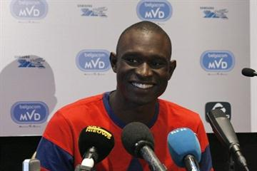 Freshly minted 800m World record holder David Rudisha meets with the media in Brussels (Bob Ramsak)