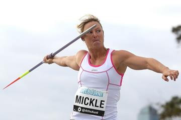 Kim Mickle at the IAAF World Challenge meeting in Melbourne (Getty Images)