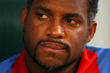 Ato Boldon in the IAAF Ambassador Fan Zone at the IAAF World Athletics Championships Moscow 2013 (Getty Images)
