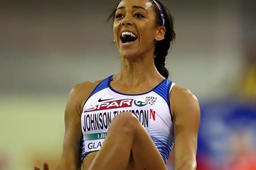 Katarina Johnson-Thompson in Glasgow (Getty Images)