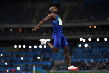 Jeff Henderson in the long jump at the Rio 2016 Olympic Games (Getty Images)