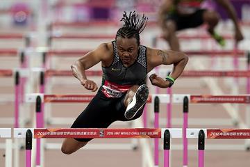 Aries Merritt in the 110m hurdles at the IAAF World Challenge meeting in Beijing (AFP / Getty Images)
