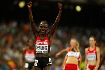 Vivian Cheruiyot wins the 10,000m at the IAAF World Championships, Beijing 2015 (Getty Images)