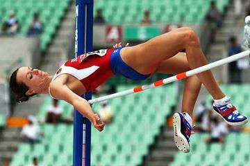 Yelena Slesarenko (RUS) - women's HJ Qual (Getty Images)
