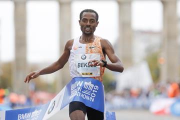 Kenenisa Bekele winning the 2019 Berlin Marathon (Organisers)
