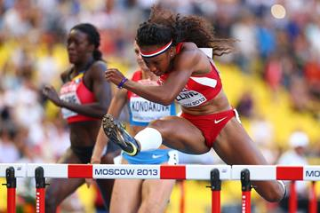 Brianna Rollins in the womens 100m Hurdles at the IAAF World Athletics Championships Moscow 2013 (Getty Images)