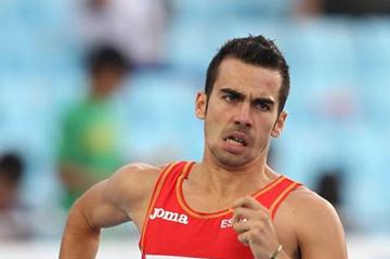Kevin Lopez of Spain competes in the men's 800 metres semi finals during day two  (Getty Images)