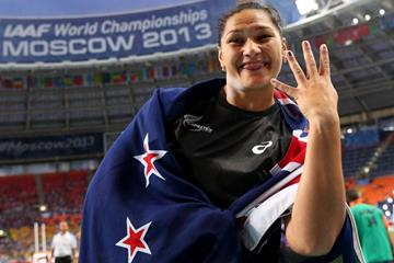 Valerie Adams in the womens Shot Put IAAF World Athletics Championships Moscow 2013 (Getty Images)
