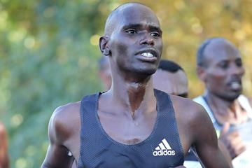 Mark Korir at the Frankfurt Marathon (Victah Sailer / organisers)