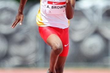 Aaron Brown, 2010 Canadian junior 100m champion (Claus Andersen)
