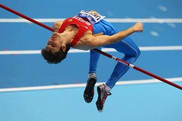 Ivan Ukhov in the high jump at the 2014 IAAF World Indoor Championships in Sopot (Getty Images)