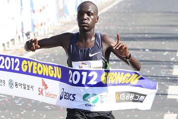 Wilson Loyanai winning in Gyeongju (Gyeongju organisers)