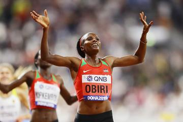 Hellen Obiri successfully defends her 5000m title at the IAAF World Athletics Championships Doha 2019 (Getty Images)