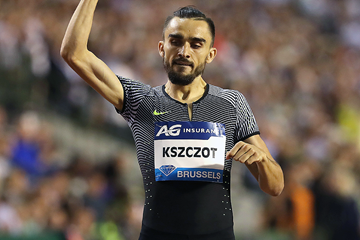 Adam Kszczot after winning the 800m at the IAAF Diamond League final in Brussels (Giancarlo Colombo)