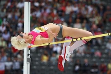Ariane Friedrich soars over the bar in front of a large home crowd (Getty Images)
