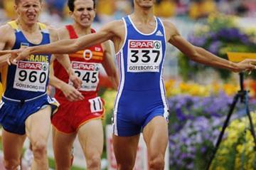 Mehdi Baala defending his European 1500m title (Getty Images)