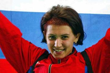 Tatyana Lebedeva celebrates Paris win (Getty Images)
