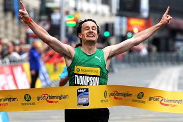 Chris Thompson wins the Great Birmingham Run (Mark Shearman)