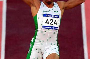 Hussein Taher Al-Sabee of Saudi Arabia defends Asian Games Long Jump title (Getty Images)