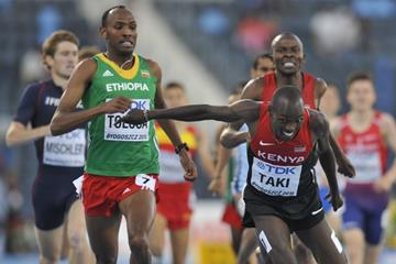 Kumari Taki wins the 1500m at the IAAF World U20 Championships Bydgoszcz 2016 (Getty Images)