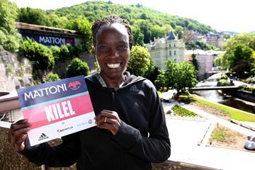Caroline Kilel ahead of the 2016 Mattoni Karlovy Vary Half Marathon (Giancarlo Colombo / organisers)