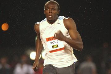 Usain Bolt on his way to the 100m world record in New York (Getty Images)