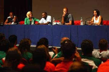 IAAF Ambassadors during the Masterclass (Getty Images)