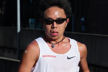 Shota Hattori at the Sydney Marathon (Victah Sailer (organisers))