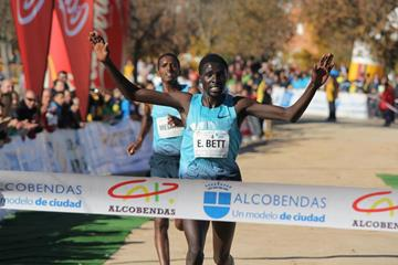 Emmanuel Bett wins at the 2013 Alcobendas cross country meeting (Miguel Alfambra FUNDACION ANOC)
