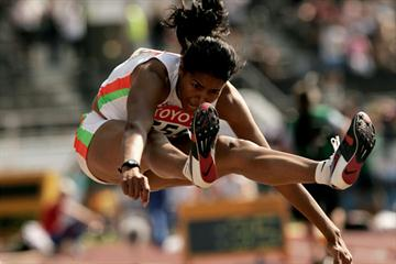 Anju Bobby George of India in the Long Jump qualification (Getty Images)