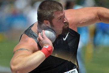 Christian Cantwell unleashes a 22.41m world leader in Eugene (Kirby Lee)