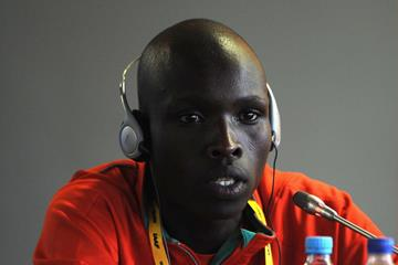 Robert Biwott at the pre-event press conference for the 2013 IAAF World Youth Championships in Donetsk (Getty Images)