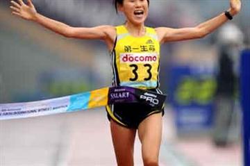 Yoshimi Ozaki, winner of the last Tokyo Women's Marathon (Kazuaki Matsunaga/Agence SHOT)