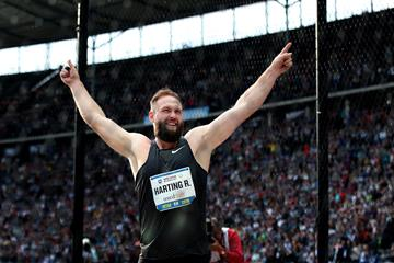 Robert Harting at Berlin's ISTAF, his farewell meeting (Bongarts/Getty Images)
