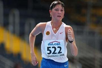 Elmira Alembekova of Russia on her way to winning the silver medal (Getty Images)