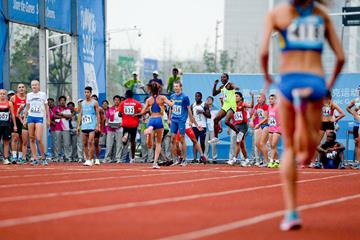 Excitement builds in the mixed 8x100m relay at the Youth Olympic Games in Nanjing (Getty Images)