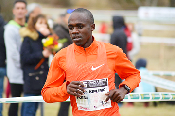 Jacob Kiplimo on his way to winning in Soria (Asociación ANOC)