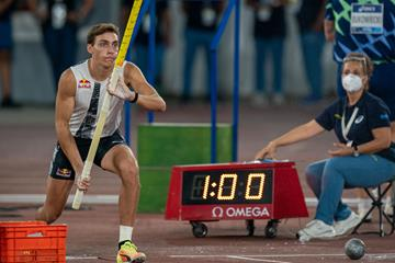 Mondo Duplantis, winner of the pole vault at the Wanda Diamond League meeting in Rome (Chris Cooper)