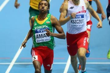 Mohammed Aman in the men's 800m at the 2014 IAAF World Indoor Championships in Sopot (Getty Images)