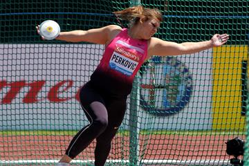 Sandra Perkovic, winner of the Discus at the Birmingham Diamond League (Mark Shearman)