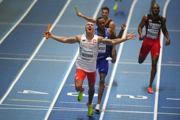 Poland wins the 4x400m at the IAAF World Indoor Championships Birmingham 2018 (Getty Images)