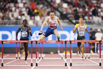 Karsten Warholm in the 400m hurdles semis at the IAAF World Athletics Championships Doha 2019 (Getty Images)