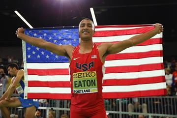 Heptathlon winner Ashton Eaton at the IAAF World Indoor Championships Portland 2016 (Getty Images)