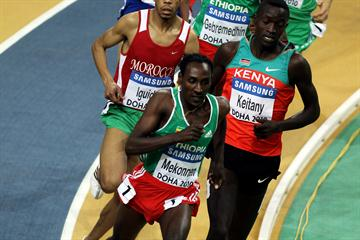 Deresse Mekonnen of Ethiopia on his way to winning gold in the 1500m final (Getty Images)