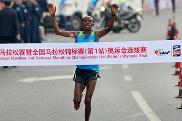 Ethiopian distance runner Kelkile Gezahegn (Organisers)