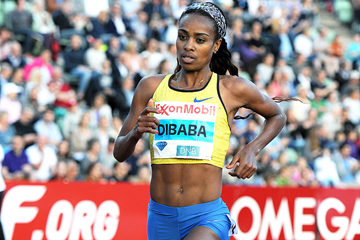Genzebe Dibaba on her way to winning the 5000m at the IAAF Diamond League meeting in Oslo (Mark Shearman)